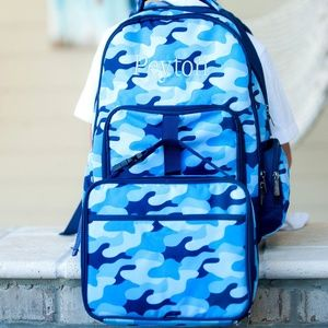 Viv And Lou Camo Cool Boys Backpack and Lunchbox